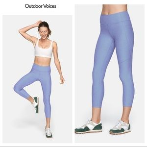 Outdoor Voices Warmup Leggings Crop Lilac Large